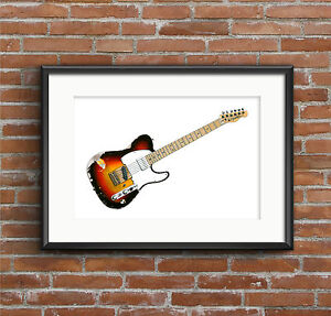 Andy-Summers-039-Fender-Telecaster-guitar-POSTER-PRINT-A1-size