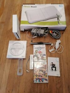 Nintendo Wii Paquete, completamente probados, tablero de fitness, Super Mario + Ruedas + controlador