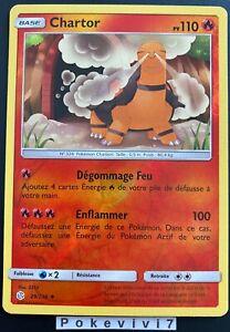 Carte-Pokemon-CHARTOR-29-236-REVERSE-Soleil-et-Lune-12-SL12-FR-NEUF