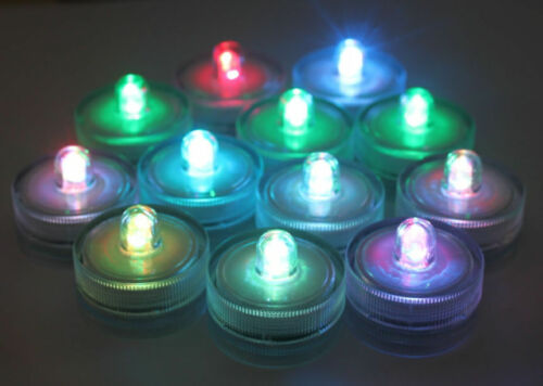 1-50 Flameless LED Candles Waterproof Battery Operated LED Tea Lights Wedding D