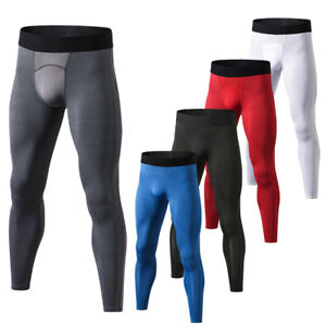 Men/'s Compression Pants Gym Athletic Base Layer Competition Tights Cool Dri fit