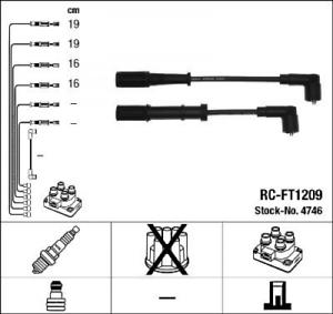 Zündleitungssatz pour système d/'NGK 4746