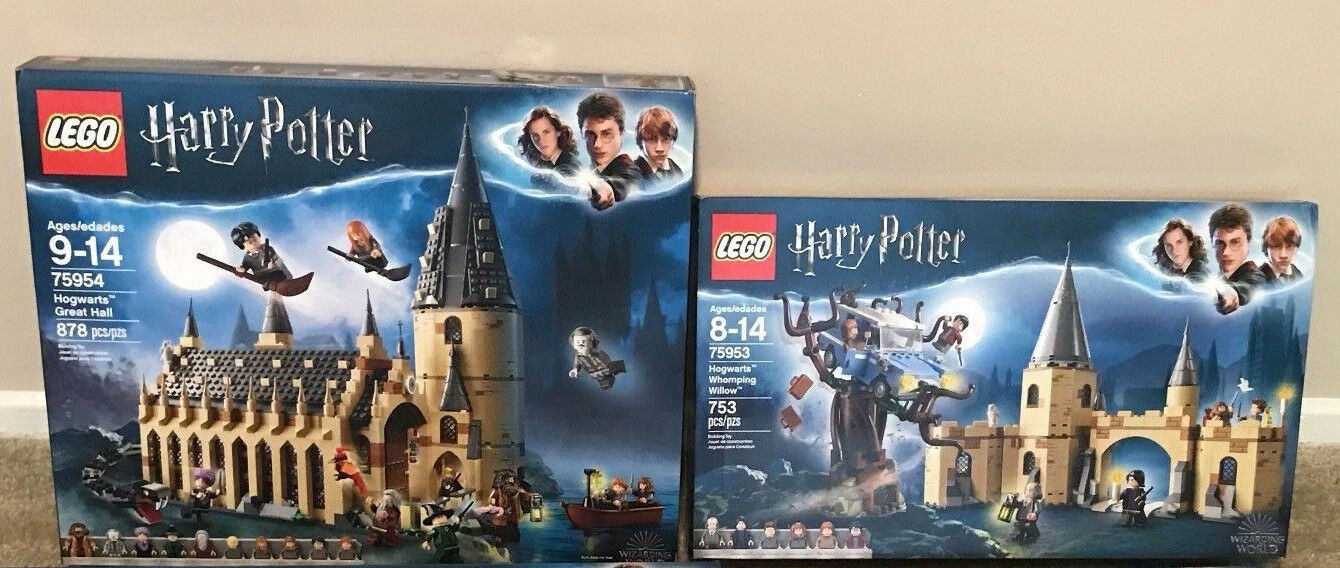 LEGO Harry Potter Castle sets 75954 and 75953 New in sealed box 2018