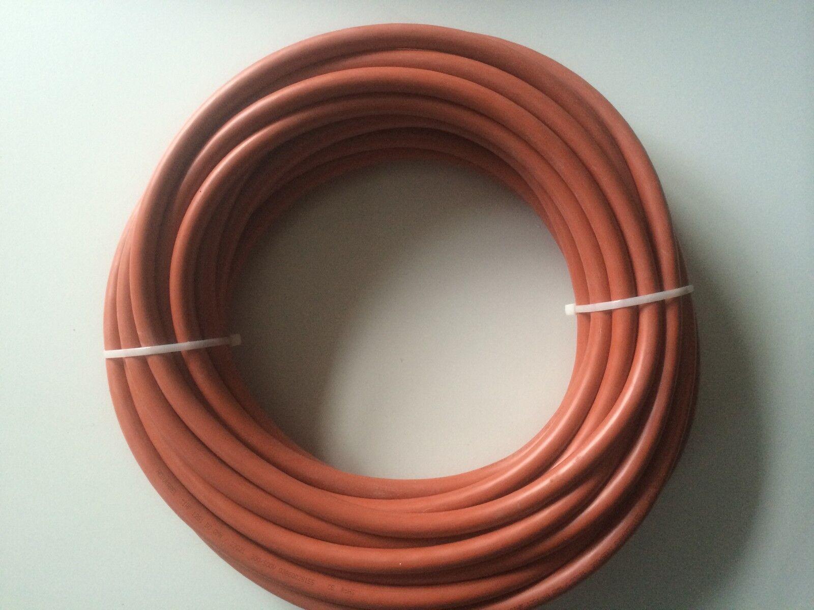 20,0 m SiHF-J Silikonkabel 6x1,0mm² DIN VDE Zert., braun,halogenfrei