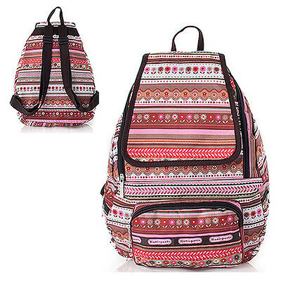 HOT SALE Pretty Pattern Backpack Womens School Bag Water Proof FLORAL SPLICING