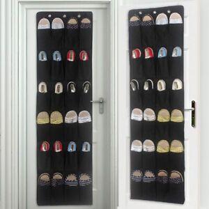 24-Pockets-Over-Door-Hanging-Bag-Box-Shoe-Rack-Hanger-Storage-Tidy-Organizer-UK