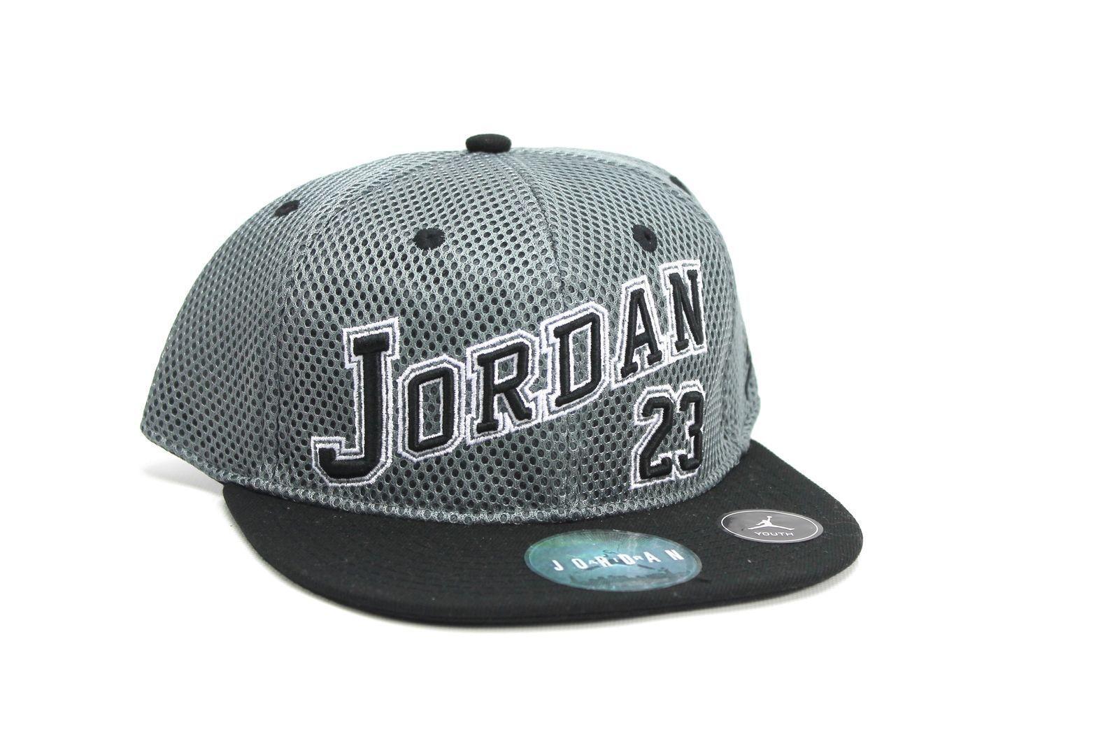 d1510b4ebf6863 Nike Jordan Varsity 23 Grey Black Kids Snapback Hat Cap 9a1683 146 ...