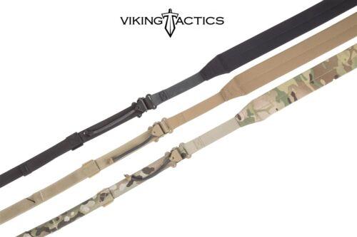Viking Tactics VTAC PES Ultralight Sling MK6-Metal Hardware-Black-Coyote-Multi