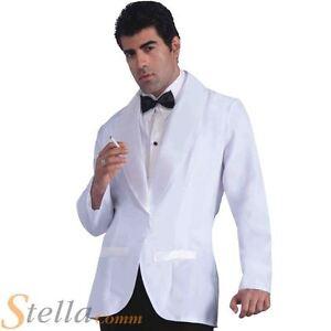 Image Is Loading Mens Formal White Jacket Fancy Dress Costume James