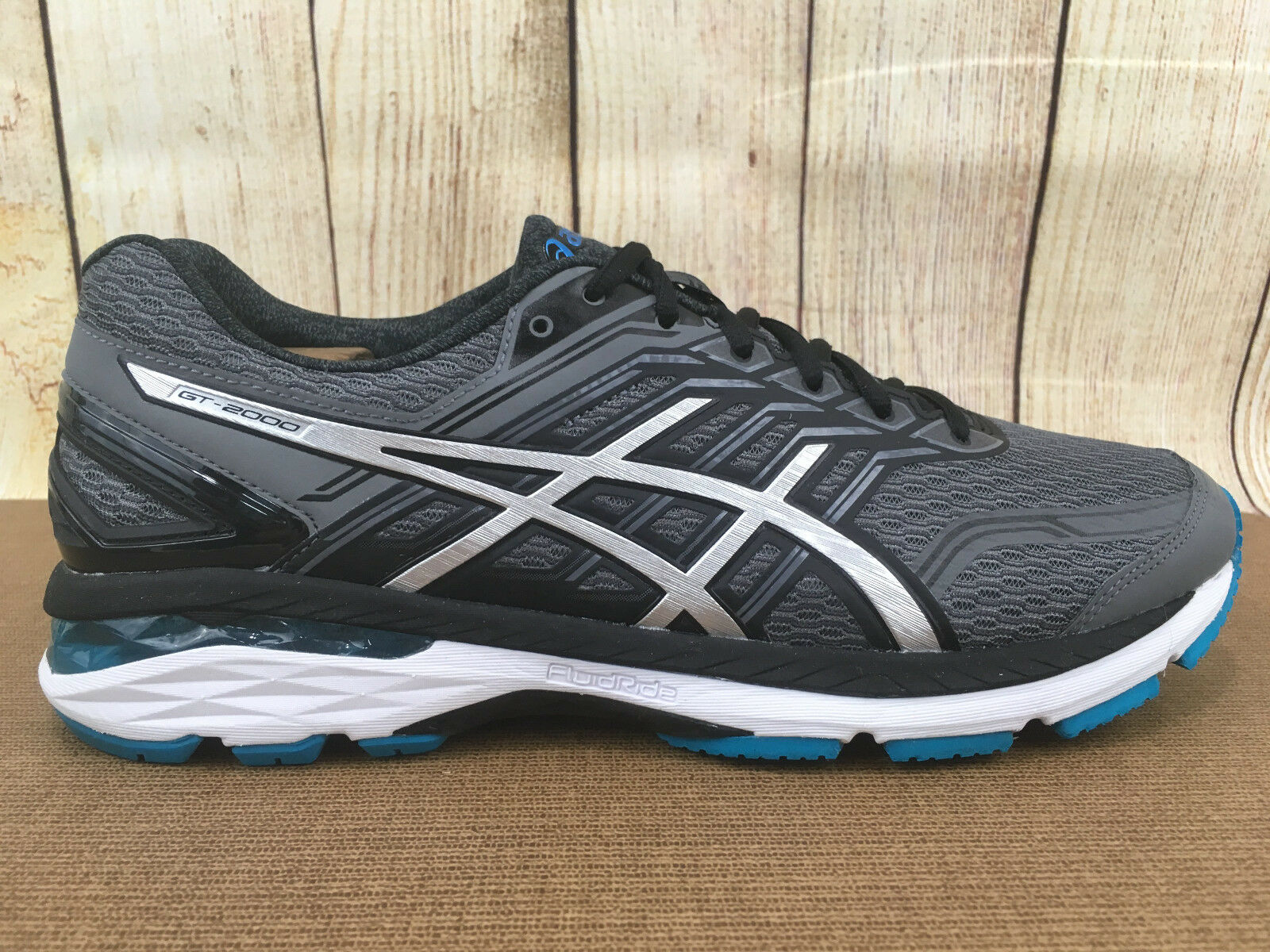 Asics Gt 2000 (T707N) Athletic Shoes - Men's Size 10, Black/Silver/Gray X12(10)