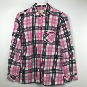 6b816dceeb1d6 Victoria Secret Pajama Set Size XS Pink Gray Check Shirt Pants PJs ...