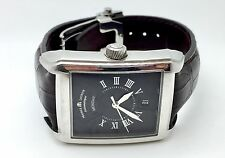 Maurice Lacroix Men's PT6137 Pontos Rectangulaire Watch Leather Band Fashion