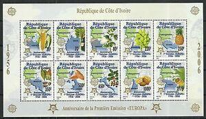 Briefmarken Genial ElfenbeinkÜste/ 50 Jahre Cept-marken Minr 1461/70 A ** Zd-bogen Eine VollstäNdige Palette Von Spezifikationen Afrika