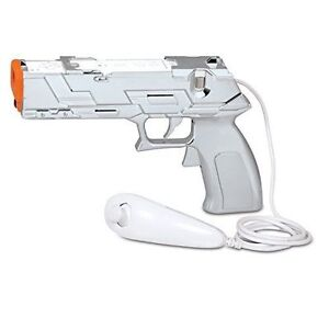 New-Loose-Silver-Quick-Shot-Plus-Gun-for-Shooting-Games-Nintendo-Wii-Wii-U