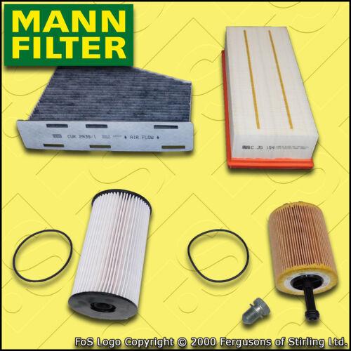 2.0 TDI Mann Huile Air Carburant Habitacle Filtres 2005-2010 Service Kit Pour VW Passat 3 C