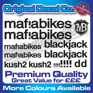 Premium Quality Mafia Bikes bmx replacement Bike Decals Stickers kush blackjack