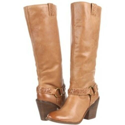 fino al 65% di sconto Lucky Brand Ethelda Marrone Bourbon Knee High stivali stivali stivali US 10 Donna  1269 Harness  alta qualità genuina