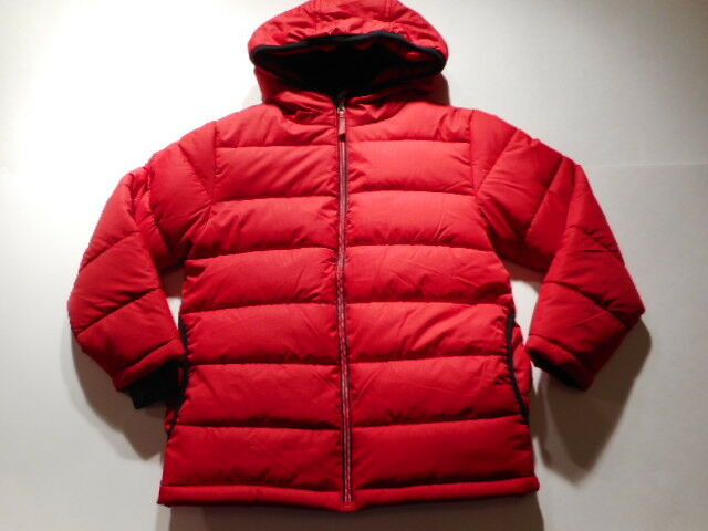 39ecf41f8cd8 Faded Glory Big Boy s Solid Bubble Jacket 18 XXL Classic Red for ...