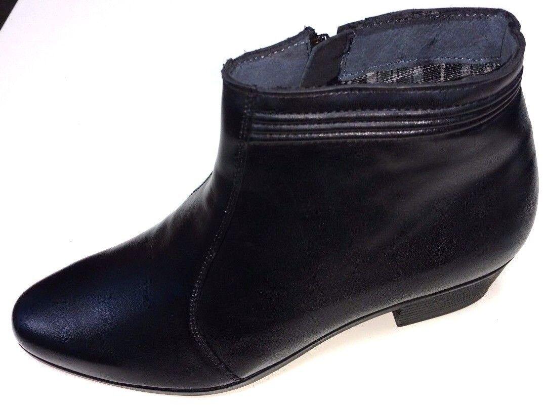 Zapatos caballero zapatos botas botín chelsea botas de cuero negro 660386