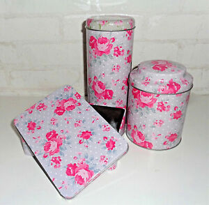 Details zu Vorratsdose Metalldose Aufbewahrungsdose Kaffeedose Rosen rosa Landhaus