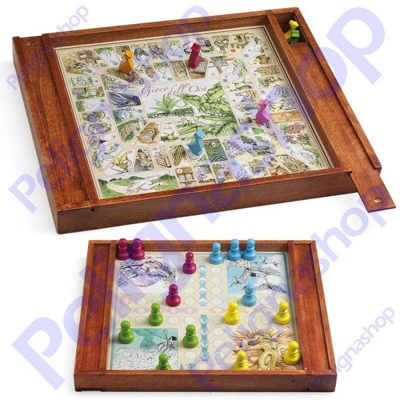 Gioco dell'Oca e dei 4 Elementi JUEGO in legno  completo di accessori  sconto di vendita