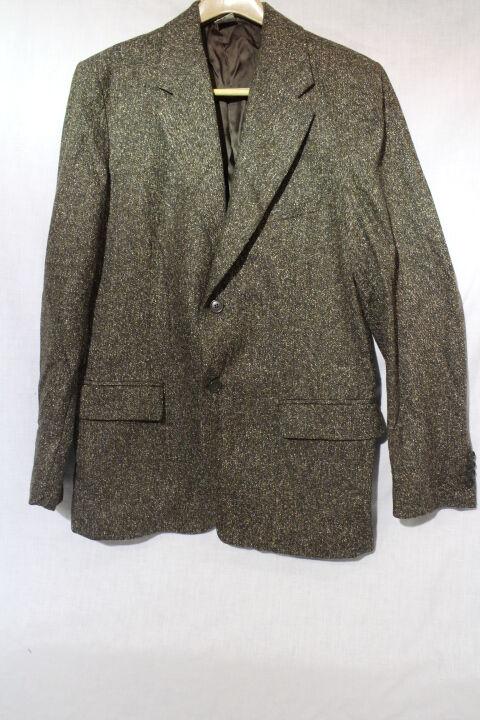 BARNEY'S NEW YORK CO-OP Brown Wool Blend Mens Blazer, Size 52 US 42, -B35