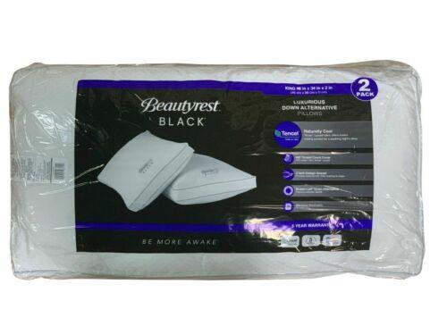 2 Pack NOP BeautyRest Black Luxurious Down Alternative Pillows 400 Thread King