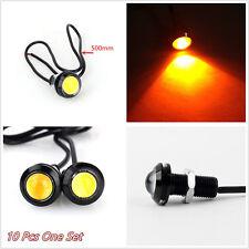 10 Pcs DC12V 10W Amber COB LED Eagle Eye Car Off-Road Fog Lights DRL Waterproof