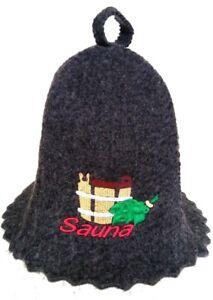 Saunamütze Saunahut Kappe Hut Mütze für Sauna Banja Schapka Saunakappe Баня