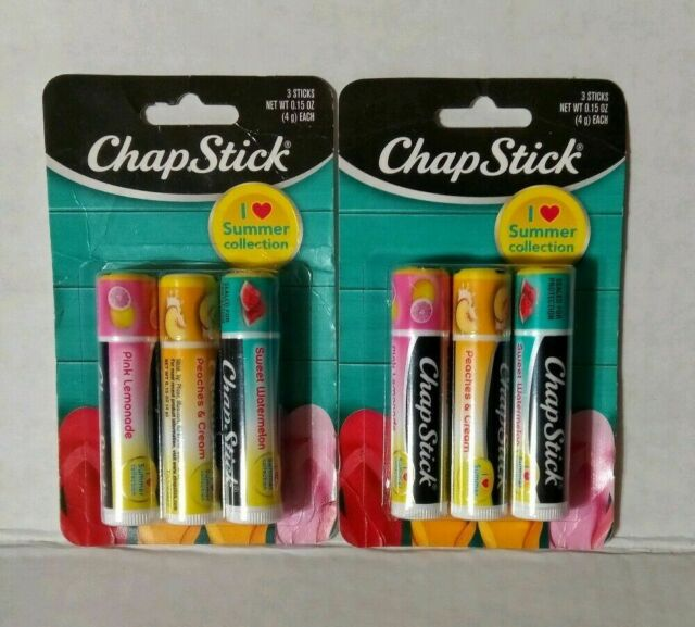 2 x 3-packs (6 TUBES) ChapStick I Love Summer Collection Flavored Lip Balm NEW