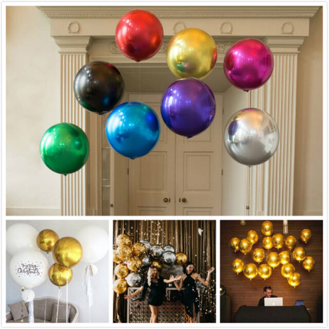 19inch 4D Round Shaped Aluminum Foil Balloon Wedding Birthday Party Decor BR