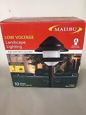New 10 Piece Set Malibu Lighting 2 Tier Landscape Lights 8301-9204-01 Combo Kits
