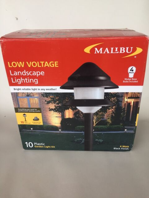 New 10 Piece Set Malibu Lighting 2 Tier Landscape Lights 8301 9204 01 Combo Kits
