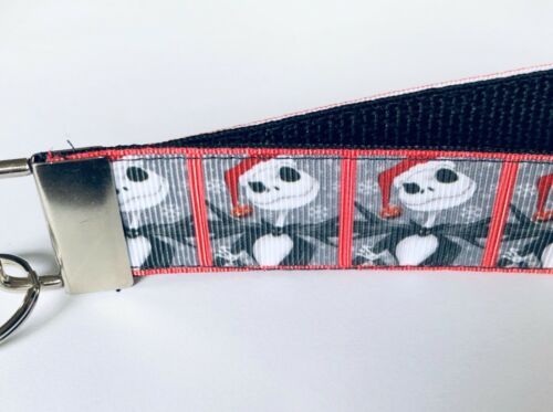 Details about  /Key Fob Key Chain Holder Wrist Lanyard Strap Jack Skellington Santa NBC