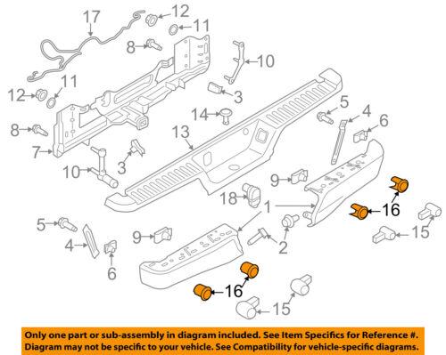 FORD OEM 15-16 F-150 Rear Bumper-Retainer Bracket Left FL3Z15K861AB