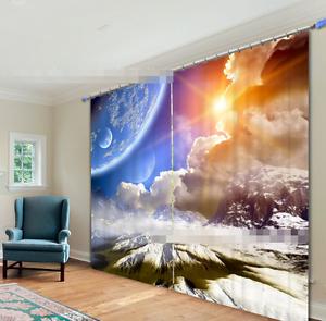 3D puesta de sol Nube Blockout Cortinas de impresión de fotografías Cortina Tela Cortinas Ventana CA