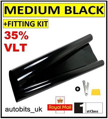 flexzon Window Tint Film Tinting Dark Black Smoke 20/% 50 X 300cm