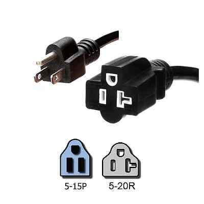 NEMA 5-15P to 5-20R Plug Adapter, 3 ft, 15A/125V 14 AWG - Iron Box # IBX-1334