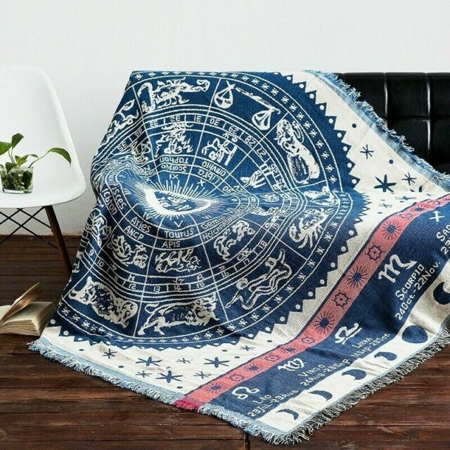 Altar Tarot Card Cotton Knitted Tassel Slipcover Sofa Cover Blanket Chair Covers
