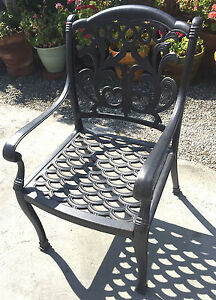 Patio chair cast aluminum Flamingo furniture all weather home garden decor