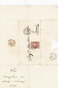 Spain 19th century imperf stamp cover  Ref: 8226