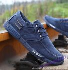 Retro Fashion Men Shoes Casual Lace Up Low Top Breathable Comfort Denim Canvas