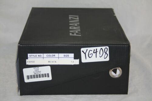 Faranzi Men/'s Fashion Leather Sneakers Studs Black Silver Metal Lion Logo F41532