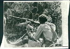 1935 Italio-Ethiopian War Machine-Gunner at the Ready Original Wirephoto