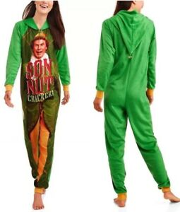 Details about Elf Buddy Womens Son Of a Nutcracker Pajama Union Suit One  Piece Sleepwear Med 935dc66c0b55