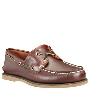 Details zu Timberland Men's 2 Eye Boat Shoes in Brown (TB025077)