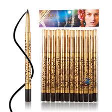 12 PCS Waterproof Makeup Cosmetic Leopard Eye Liner Pencil Eyeliner Pen Black