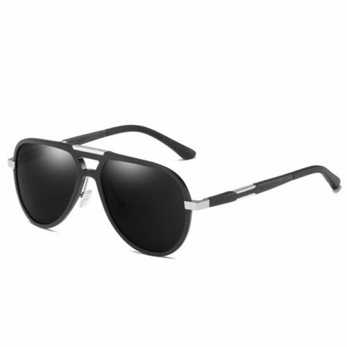 New Black Classic Retro Vintage Mens Womens Unisex Polarized Sunglasses UV400