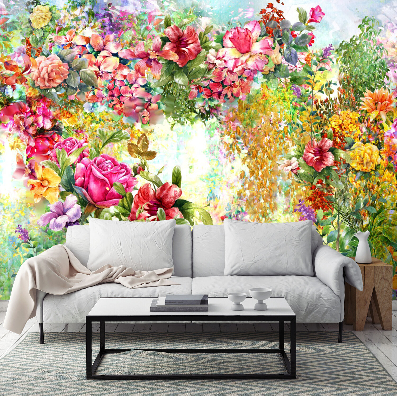 3D Bright Lush Flowers 3028 Paper Wall Print Wall Decal Wall Deco Indoor Murals