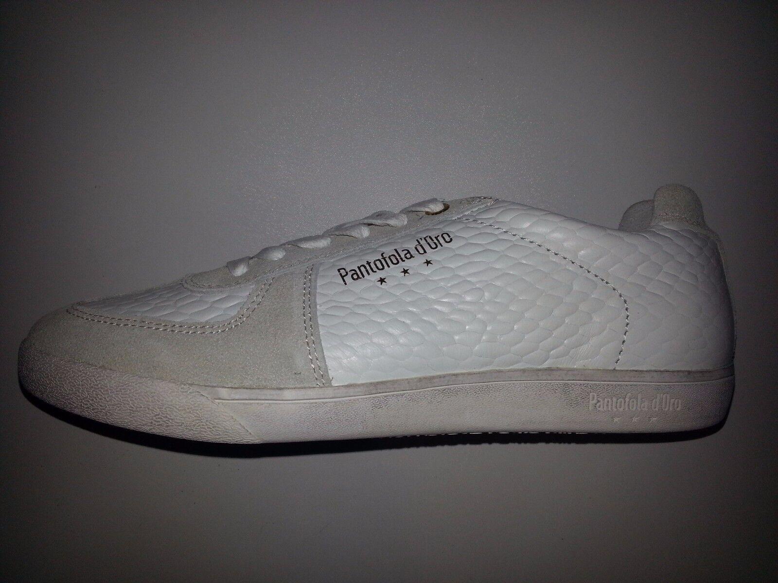 Pantofola Sneaker dOro Carrara Herren Leder Sneaker Pantofola weiß Größen 40-42-43-44-45-46 NEU 8b37f7